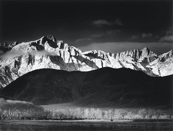 Ansel Adams - Winter Sunrise, Sierra Nevada, Lone Pine. web