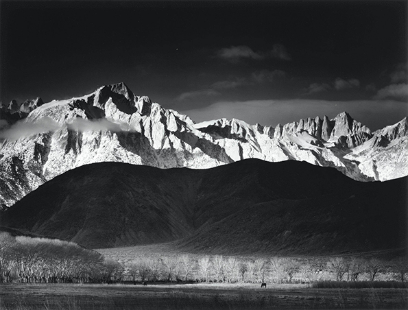 Ansel Adams - Winter Sunrise, Sierra Nevada, Lone Pine. web