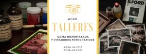 banner cursos de procesos antiguos Tipia Lab Escuela de fotografia quimica y alternativa bogota
