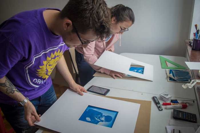 Curso de Cianotipo, taller de Cianotipia, Cyanotipe, blue print workshop, Tipia Lab