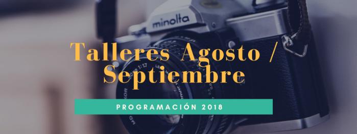 Cursos y talleres agosto septiembre 2018 fotografia alternativa, alternative photography, procesos antiguos Tipia lab
