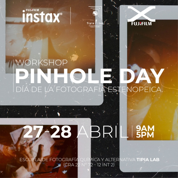Pinhole Day Tipia Lab Escuela de Fotografia analoga y Fuji film Instant pinhole photography